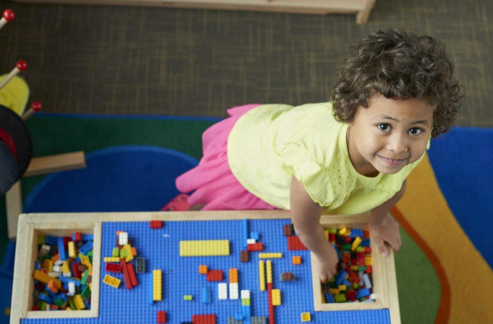 Girl with Legos