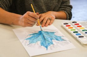 Beautiful Watercolor Leaf Rubbings